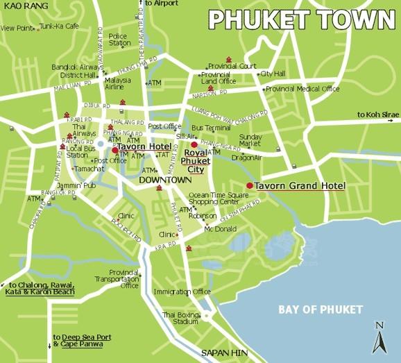 芭东海滩旅游地图